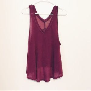 Free People Shear Purple Tank Top